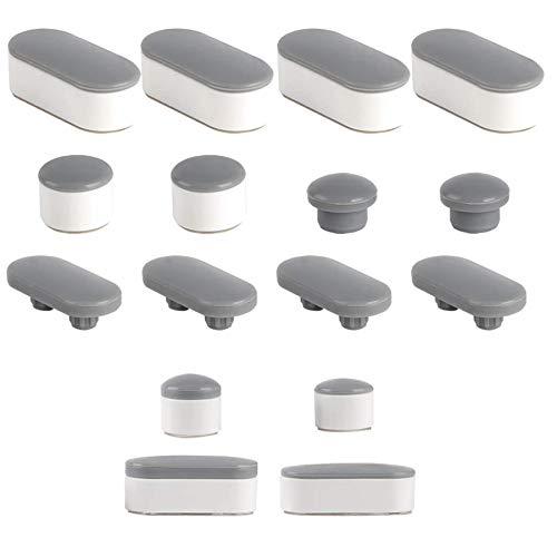 WC-Sitz-Puffer 6 Stück Abstandhalter Auflagestopfen für Toilettensitz Weiß WC Sitz Stoßstangen