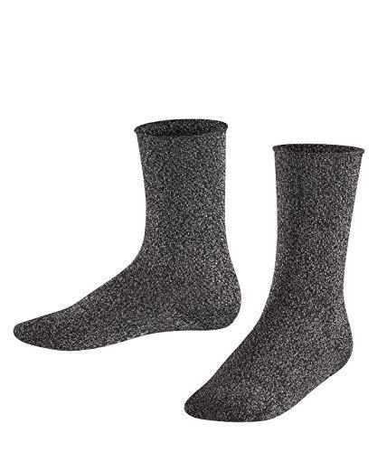 FALKE Kinder Socken Shiny - Baumwollmischung, 1 Paar, Schwarz (Black 3000), Größe: 39-42