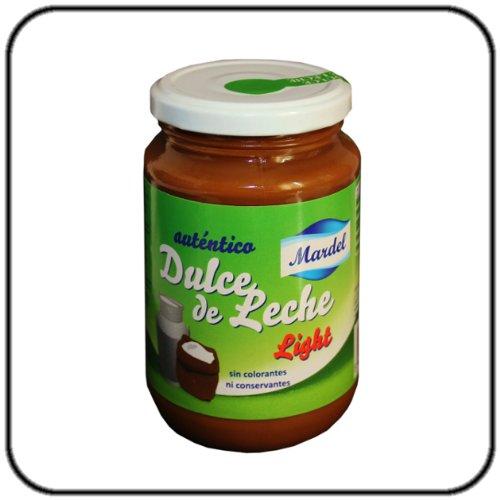 Leche Caramelo Crema Ligera, Vidrio 450g. - Dulce de Leche Light MARDEL 450g