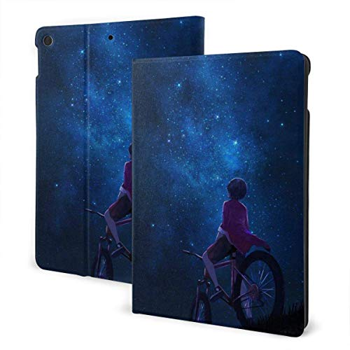 liukaidsfs Ipad case Starry Night Girl Slim Lightweight Smart Shell Stand Cover Case for iPad 7th 10.2 inch