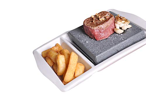 Black Rock Grill Porcelain Hot Rock Steak on the Stone Set