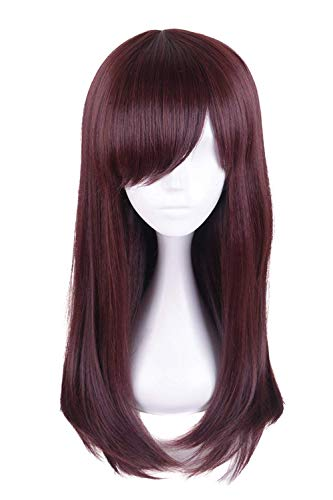 Ani·Lnc Game Hair Wig Deep Brown Cosplay for Overwatch D.VA Costume Wig