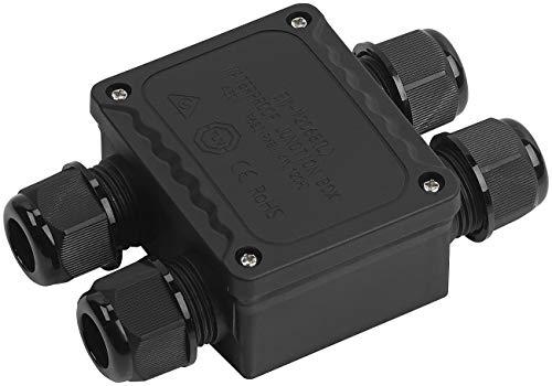 revolt Verteilerdose: Outdoor-Kabel-Verbindungsbox, 4-fach, für Kabel mit Ø 9-14 mm, IP68 (Wasserdichte Kabelbox IP68)