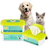 PUPMATE Pet Wipes for Dogs & Cats, Extra Moist & Thick Grooming Puppy Wipes with 100 Deodorizing and Hypoallergenic Fresh Counts, Aloe Vera