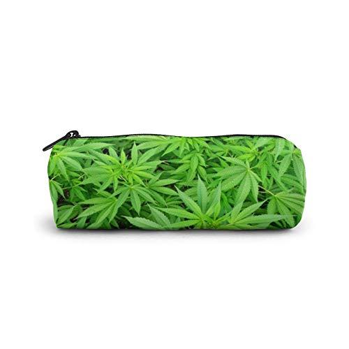 Marihuana Cannabis Unkraut Topf Pflanzen Federmäppchen Leinwand Stifttasche Schreibwaren Tasche Büro Aufbewahrung Organizer Münzbeutel für Schule Teenager Mädchen Erwachsene