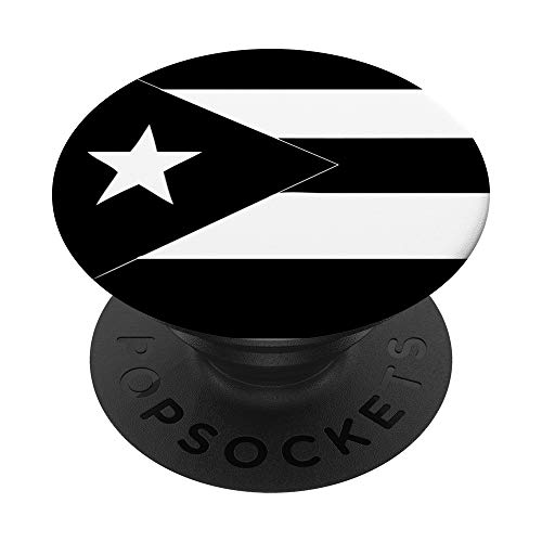 Puerto Rico Black Flag PopSockets PopGrip: Swappable Grip for Phones & Tablets