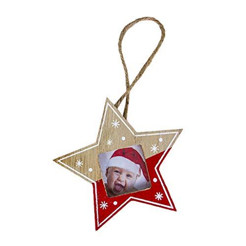 Sweo Baum/Stern/Herz zum Selbermachen, Holz-Bilderrahmen, mit Kordel, Kontrastfarbe, zum Aufhängen, Dekoration für Zuhause, Partys, Weihnachten