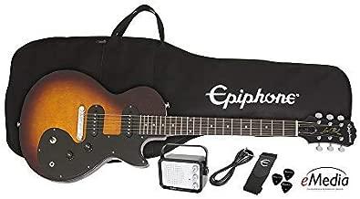Epiphone Les Paul SL Starter Pack (Includes Mini Amp, Gigbag, Tuner, Picks, and Strap), Vintage Sunburst