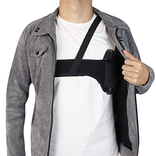Tactical Universal Schulterholster, Achselholster Tactical Hidden Shoulder Holster Tactical Belt Linke Schulter Rechte Hand Schwarzes Nylonholster für Alltägliche Verdeckte Trageweise