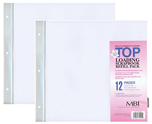 """2-Pack - MBI 12"""" x 12"""" Scrapbook Expansion Pages, 6sht (12 Pages)"""