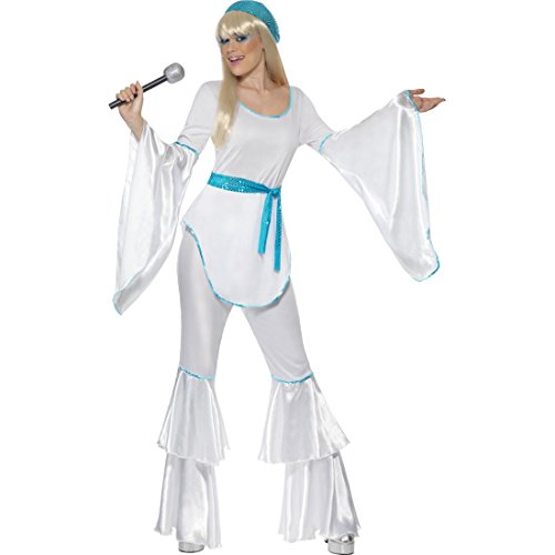 NET TOYS Costume Femme Années 70 Tenue Costume de Danse Déguisement Costume Disco M 42/44