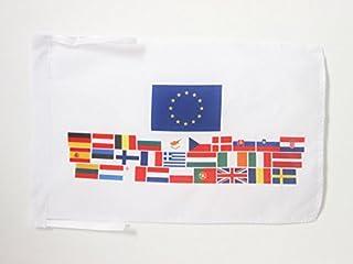 AZ FLAG Bandera de los Union Europea 28 Paises 45x30cm - BANDERINA EUROPEANA – UU.EE - Europa 30 x 45 cm cordeles