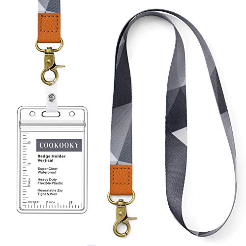 Lanyard with id Holder Cute lanyards for Women Lanyard for Keys id Badge Holder (Gray)