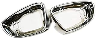 TX Racing Matt Chrome Side Wing Mirror Trim Pair Direct Replacement for VW Passat CC/Scirocco MK3 / Beetle