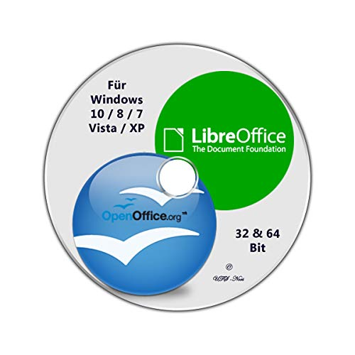 OpenOffice & LibreOffice, Vorlagen + Softwarepaket für Windows 10 / 8 / 7 / Vista / XP (32 & 64 Bit)