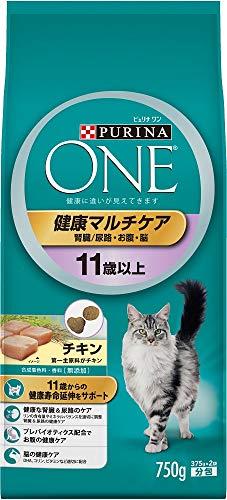 ネスレ ピュリナワン 猫用 健康マルチケア 11歳以上 チキン 750g 1袋