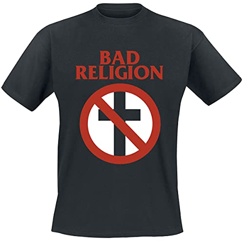 Bad Religion Cross Buster Hombre Camiseta Negro L, 100% algodón, Regular