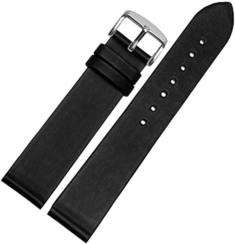 Chtom 12mm 14mm 16mm 18mm 20mm 22mm reloj de cuero naranja banda de correa de la correa de rosa de oro hebilla (22 mm) (Color : -, Size : 22mm)