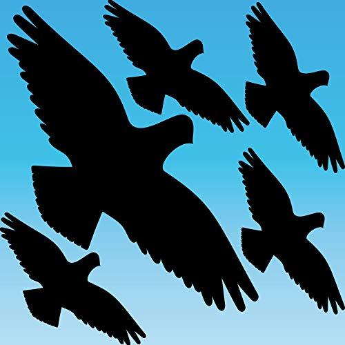 GreenIT Warnvogel schwarz Set L (groß) Vogel Vögel Warnvögel Silhouette Aufkleber Tattoo Fenster Schutz gegen Vogelschlag Deko Folie