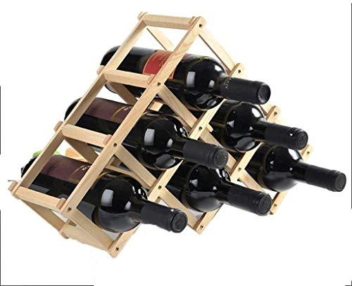 HJXSXHZ366 Estantería de Vino Bastidores CHAMPAÑERAS apilado de Madera, Soporte de exhibición Estante de la Botella de Vino Independiente, Pantalla de Alcohol Estante de Vino pequeño