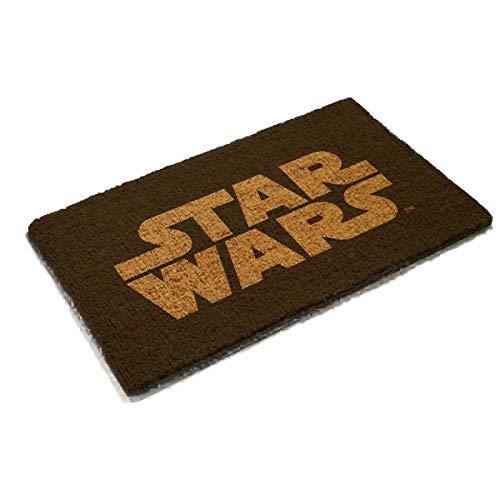SD toys Felpudo Diseño Star Wars, Fibra De Coco, Negro, Decoración del hogar