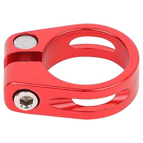 Tenpac Abrazadera de Tubo, Abrazadera de Banda en V Abrazadera de Tubo de aleación de Aluminio, para Amantes de la Bicicleta al Aire Libre para Bicicletas para Bicicletas(Red)