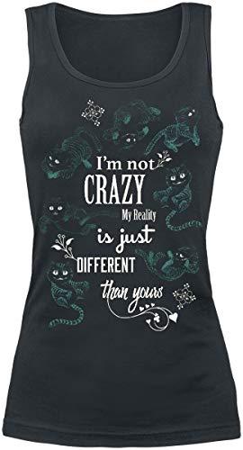 Alice im Wunderland Grinsekatze - I'm Not Crazy Frauen Top schwarz M