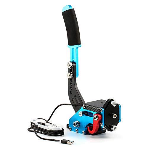 OOOUSE - Freno de Mano USB para SIM Racing Games G25 G27 G29 T500 FANATECOSW Dirt Rally (sin Abrazadera), Color Negro, Rojo y Azul