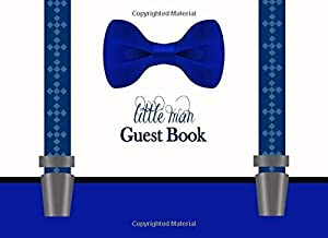 Little Man Guest Book: Navy Blue Bow Tie Advice for Parents and Gift Log