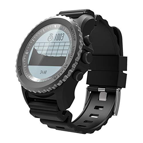 tieoqioan Grado Impermeable Profesional IP68 para Exteriores, múltiples Modos Deportivos, Tabla de ECG de Llamada GPS, Tabla de Temperatura, Reloj Inteligente Deportivo