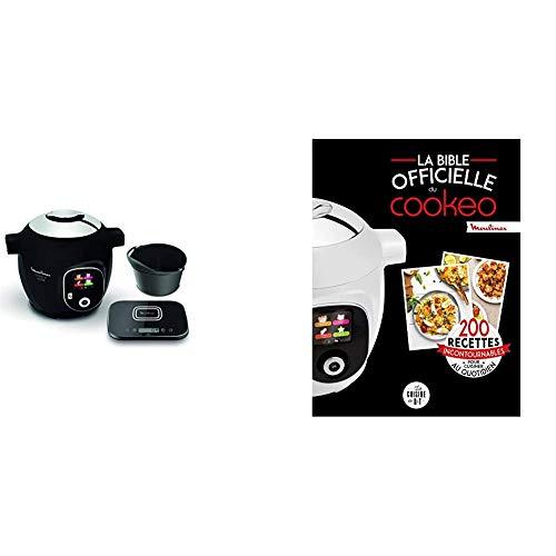 Moulinex Connect Multicuiseur Intelligent Haute Pression Balance et Moule Inclus 6L 200 Recettes 6 Modes de Cuisson et La bible officielle du cookeo: 200 recettes incontournables pour cuisiner