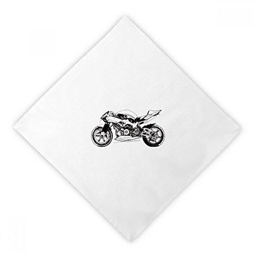 DIYthinker Schwarz Motorrad Illustration Muster Dinner Servietten Mittagessen Weiß Wiederverwendbare Tuch 2Pcs 18.5 Zoll x 18.5 Zoll Mehrfarbig