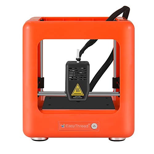 Mini Toybox 3D Printer,Portable Fully Assembled Mini 3D Printer with Slicing Software 90x110x110mm Printing Size One Key Printing for Household Education & DIY Children (Orange)