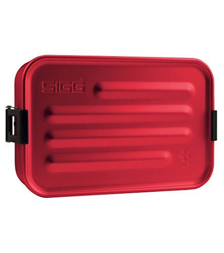 SIGG Metal Boxes Plus aus Aluminium, S, 170 x 117 x 60 mm, 250g, Rot