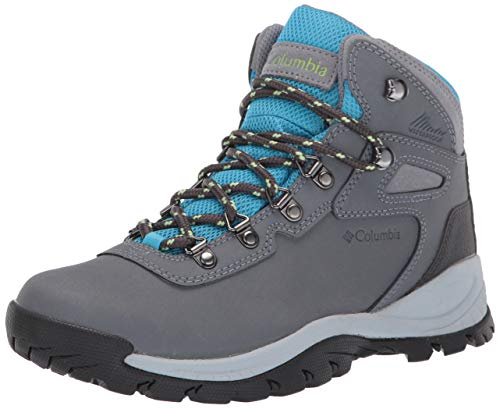 Columbia womens Newton Ridge Plus Waterproof Hiking Boot, Grey Ash/Riptide, 9.5 US