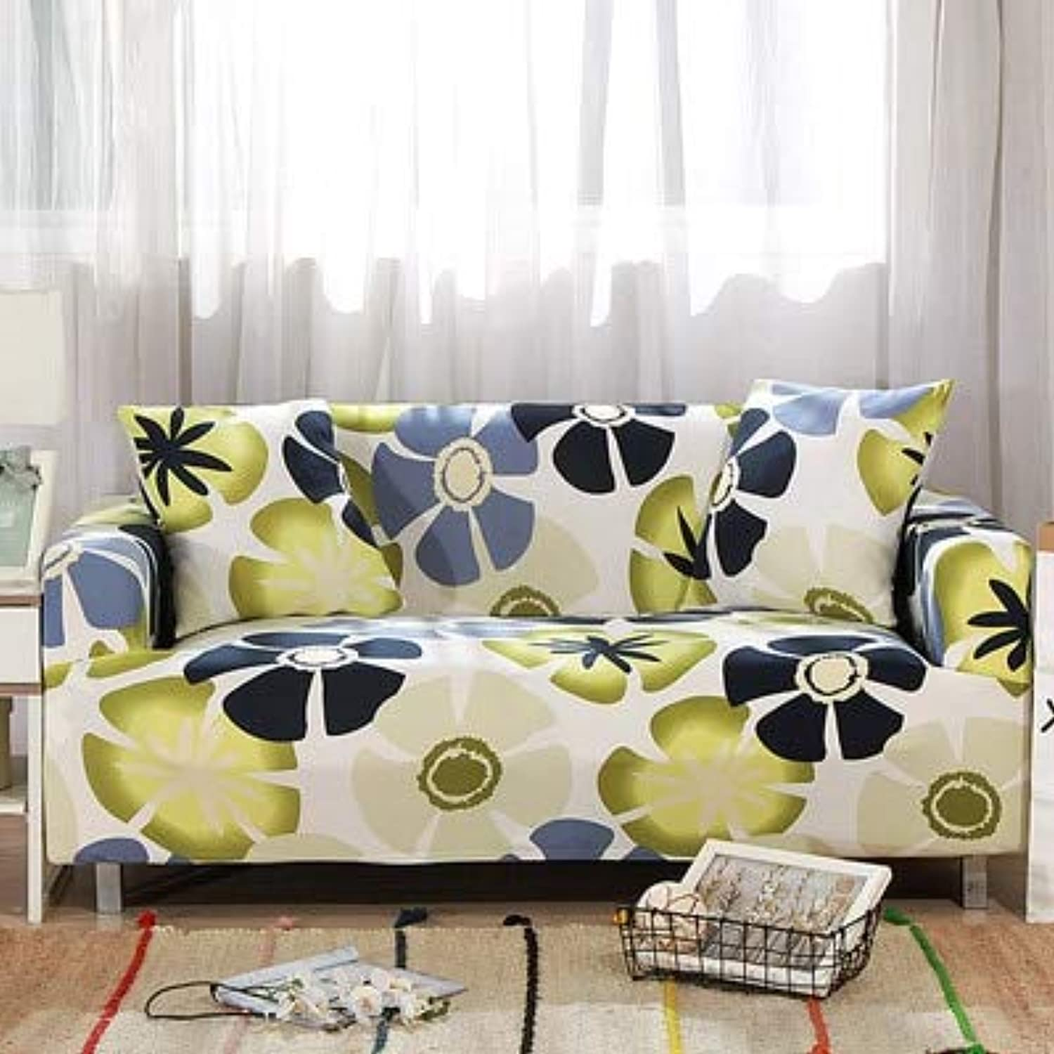 Leaves Pattern Sofa Covers Elastic Stretch Universal Sectional Throw Couch Corner Cover Cases for Furniture Armchairs Home Deco   15, Single seat Sofa