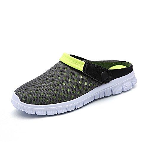 FOBEY Herren Damen Schlüpfen Atmungsaktiv Schuhe Paare Sport Sandalen Flip Flops CN-927-Green-42