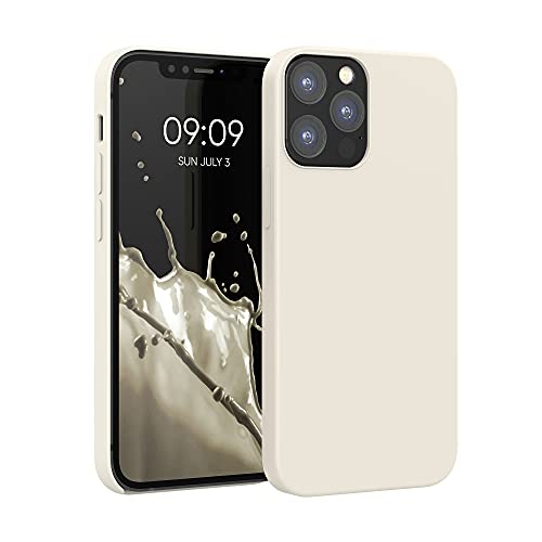 kwmobile Hülle kompatibel mit Apple iPhone 12/12 Pro - Hülle Silikon gummiert - Handyhülle - Handy Hülle in Creme