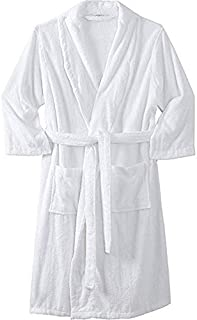 M /& S Da Uomo Misto Cotone Stampato vestaglia con cintura Accappatoio Taglia M L XL