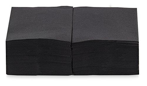 Saten Coktail, Servilleta 20x20, 2 capas, pliegue 1/4, 100 servilletas, punta-punta Negra