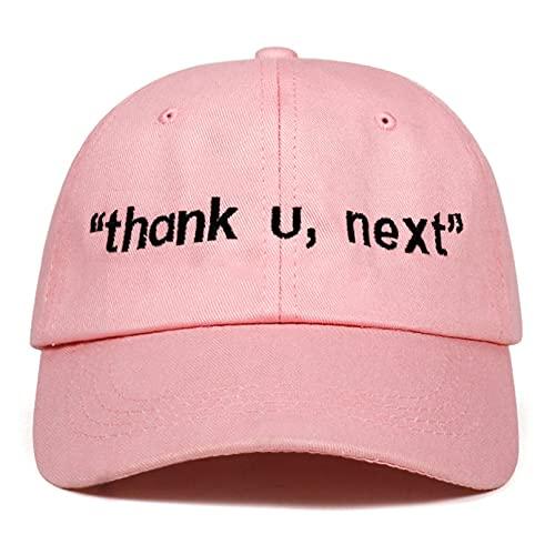 YIERJIU Gorra Gorras Beisbol Nuevo Thank U, Next Gorra de béisbol Bordada Sombrero de papá Unisex Mujer Hombre Gorras de Hip Hop Último álbum Sombreros Snapback,Pink