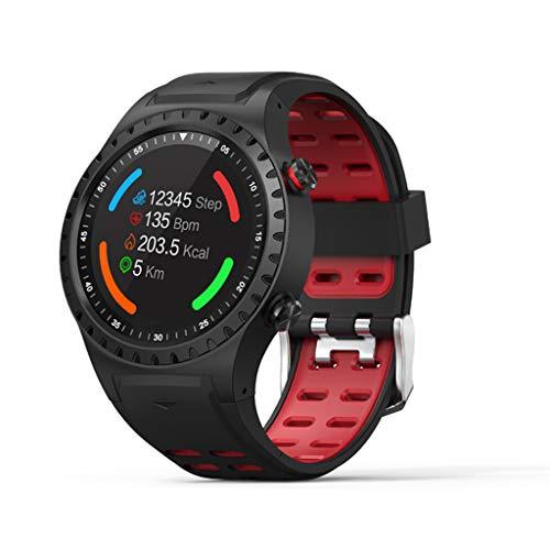 VECOLE Smart Uhr, Damen Herren Fitness Armbanduhr mit GPS-Ortung Wasserdicht Smartwatch Fitness Armband Sportuhr mit Call SMS Benachrichtigung Push Bilder aus der Ferne aufnehmen (Rot)
