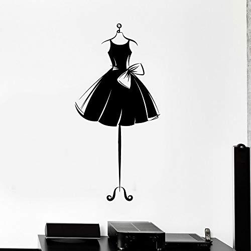 yaonuli Vinyl muursticker jurk korte model jurk bar slaapkamer huisdecoratie winkel sticker