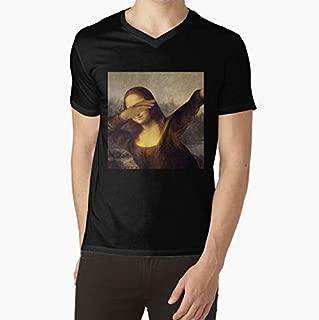Mona Lisa Dab Meme VNeck TShirt, Unisex Hoodie, Sweatshirt For Mens Womens Ladies Kids