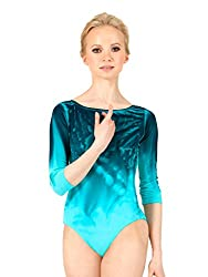 Watercolour Adult Hand Painted Boatneck 3/4 Sleeve Leotard WC218