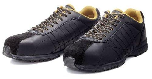 [ドンケル] Dynasty グリップ 安全靴 スニーカー 耐滑 最高区分5 JSAA A種(普通作業用) DG-22 メンズ ブラック 25.5