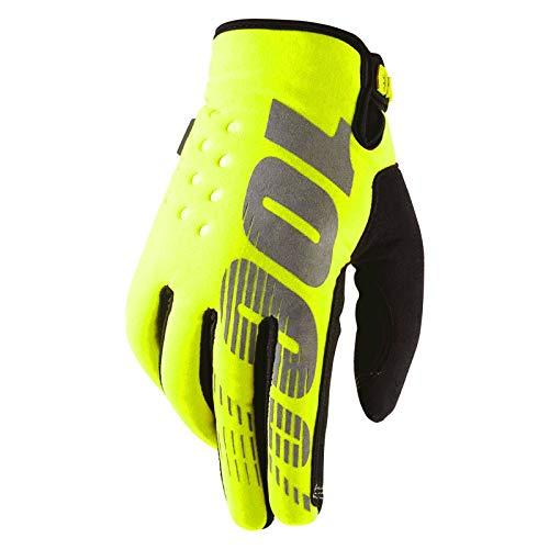 100% BRISKER YELLOW Motocross Handschuh - gelb Größe L