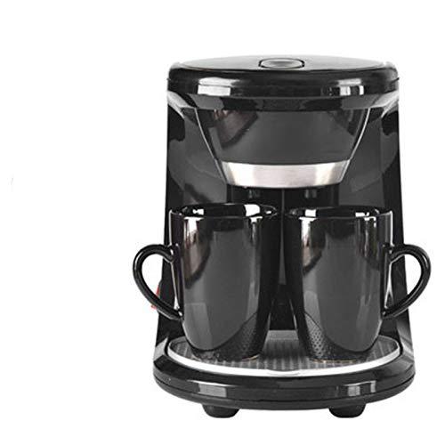 DJK Mini máquina de café de Filtro de Vapor de una máquina automática, café Espresso en casa Estadounidense cafetera 2 Taza de Familia de la Oficina