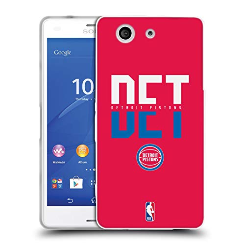 Head Case Designs Ufficiale NBA Tipografia 2019/20 Detroit Pistons Cover in Morbido Gel Compatibile con Sony Xperia Z3 Compact / D5803