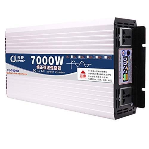 7000 W Wechselrichter Doppel-Wechselstromsteckdosen 12V/24V/48V/60V bis 110V/220 V Wechselstrom-Autokonverter mit Intelligentes Farbdisplay 12V-8000W,24vTo110v